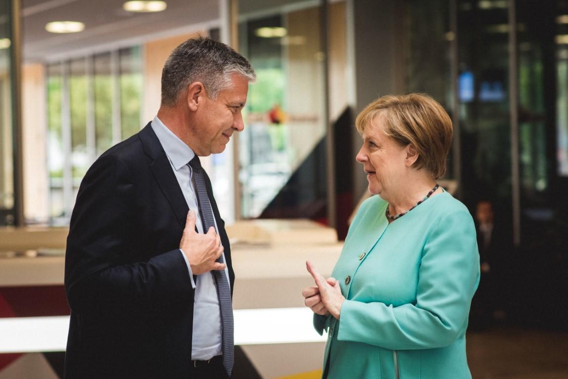 Angela Merkel auf einem Empfang im Konrad Adenauer Haus
